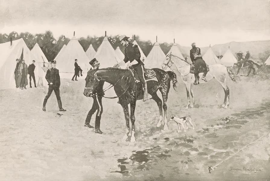 Drawings by Frederic Remington - A Modern Cavalry Camp (1897)