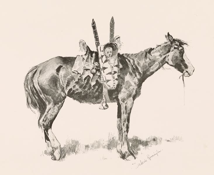 Drawings by Frederic Remington - The Squaw Pony (1897)