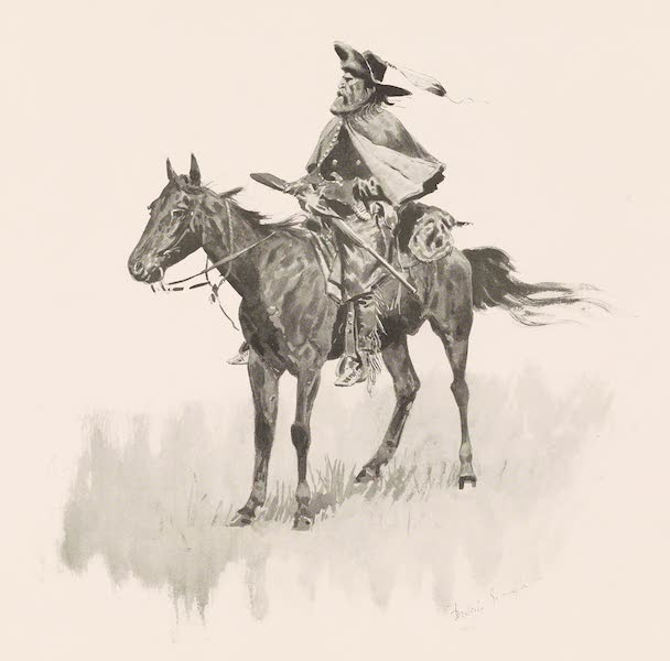 Drawings by Frederic Remington - A Scout - 1868 (1897)