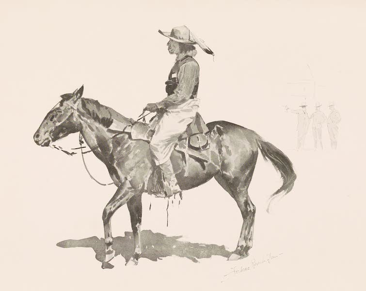 Drawings by Frederic Remington - A Reservation Indian (1897)