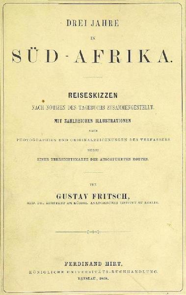 Drei Jahre in Sud-Afrika - Front Cover (1868)