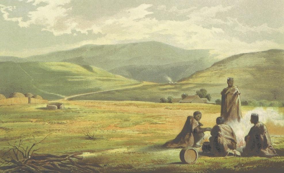 Drei Jahre in Sud-Afrika - Die Drakensberge vom Fufse des Bezuidenhouts Pass Gesehen (1868)