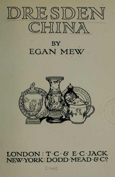 Dresden China - Title Page (1909)