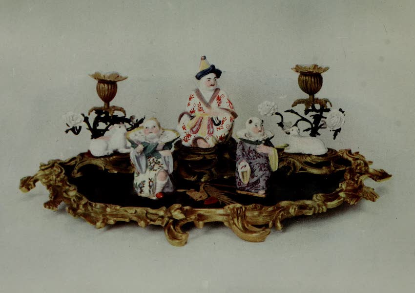 Dresden China - Lacquer Inkstand with China (1909)