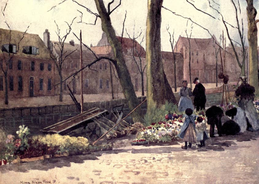 Dutch Bulbs and Gardens, Painted and Described - Flower-Market, Haarlem (1909)