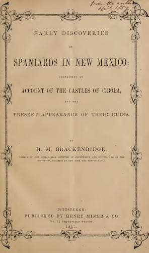 New York Public Library - Early Discoveries by Spaniards in New Mexico