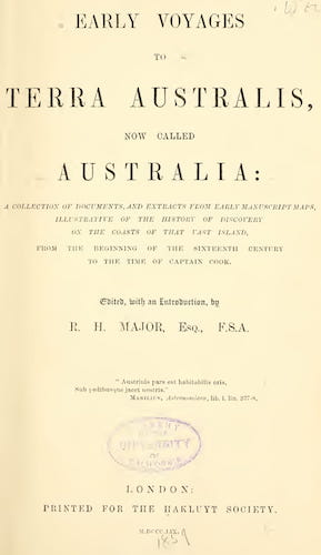 English - Early Voyages to Terra Australis
