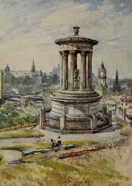 Edinburgh Painted and Described - Edinburgh from Calton Hill (1904)