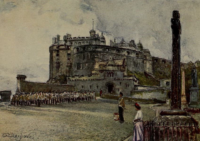 Edinburgh Painted and Described - The Castle from the Esplanade (1904)