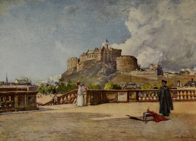 Edinburgh Painted and Described - The Castle from the Terrace of Heriot's Hospital (1904)