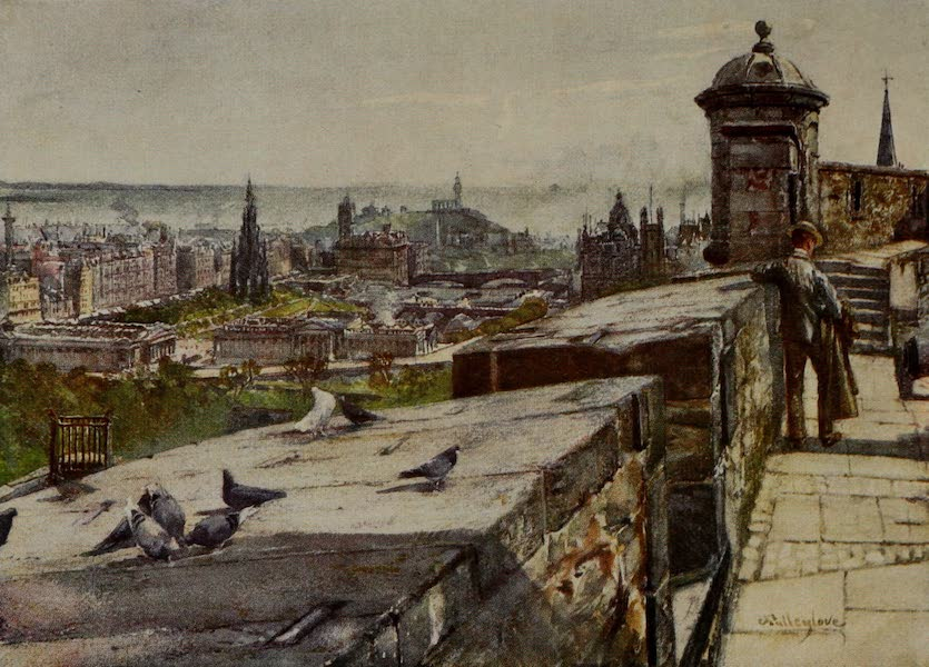 Edinburgh Painted and Described - Edinburgh from the Castle (1904)