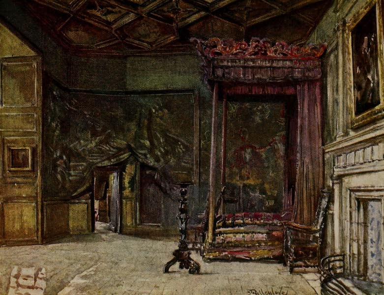 Edinburgh Painted and Described - The Apartments of Mary Queen of Scots in Holyrood Palace (1904)