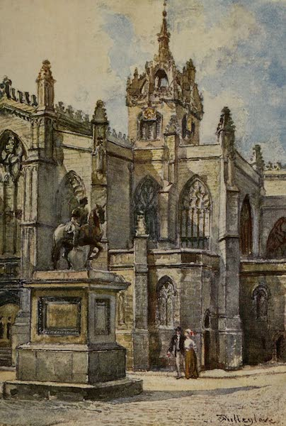 Edinburgh Painted and Described - St. Giles's Cathedral from the Courts (1904)