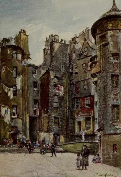 Edinburgh Painted and Described - Lady Stair's Close (1904)