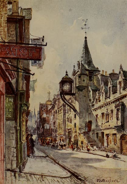 Edinburgh Painted and Described - The Canongate Tolbooth, looking West (1904)