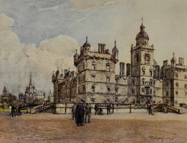 Edinburgh Painted and Described - North Front of George Heriot's Hospital (1904)