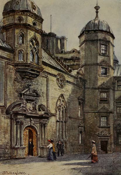 Edinburgh Painted and Described - Quadrangle of George Heriot's Hospital (1904)