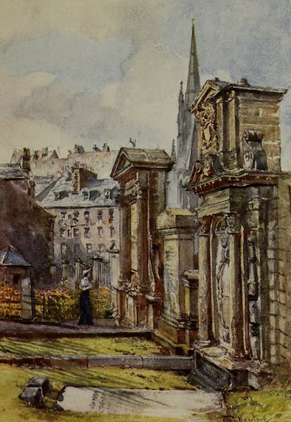 Edinburgh Painted and Described - The Martyrs' Monument in the Graveyard, Greyfriars' (1904)