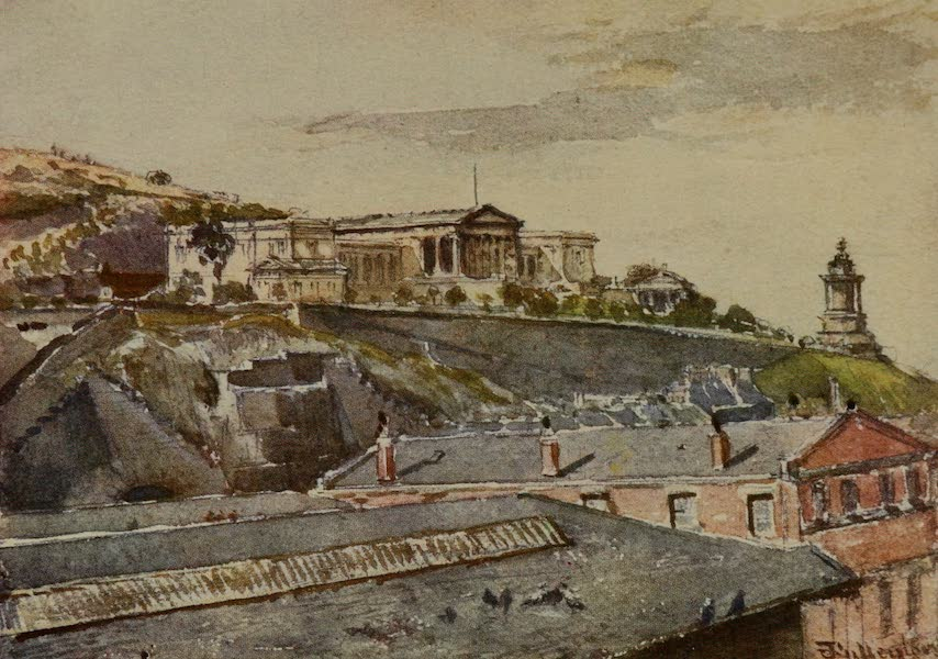 Edinburgh Painted and Described - The High School and Burns's Monument from Jeffrey Street (1904)