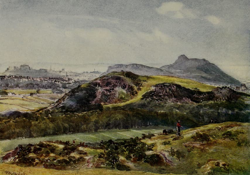 Edinburgh Painted and Described - Arthur's Seat from the Braid Hills (1904)