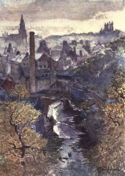 Edinburgh Painted and Described - The Water of Leith from Dean Bridge (1904)