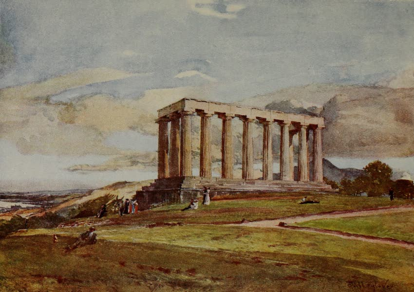 Edinburgh Painted and Described - The National Monument on Calton Hill (1904)