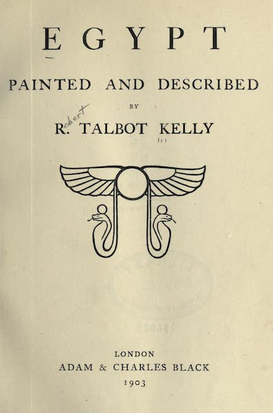 Egypt, Painted and Described - Title Page (1902)