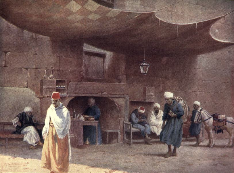 Egypt, Painted and Described - An Arab Cafe, Cairo (1902)