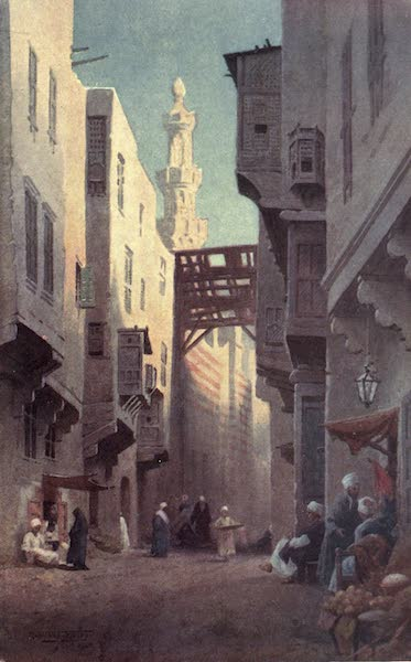 Egypt, Painted and Described - Sharia Bab-el-Wazir, Cairo (1902)