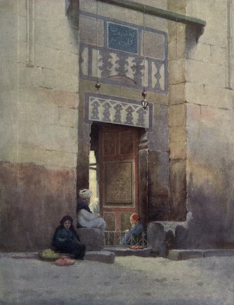 Egypt, Painted and Described - A Mosque Door, Cairo (1902)