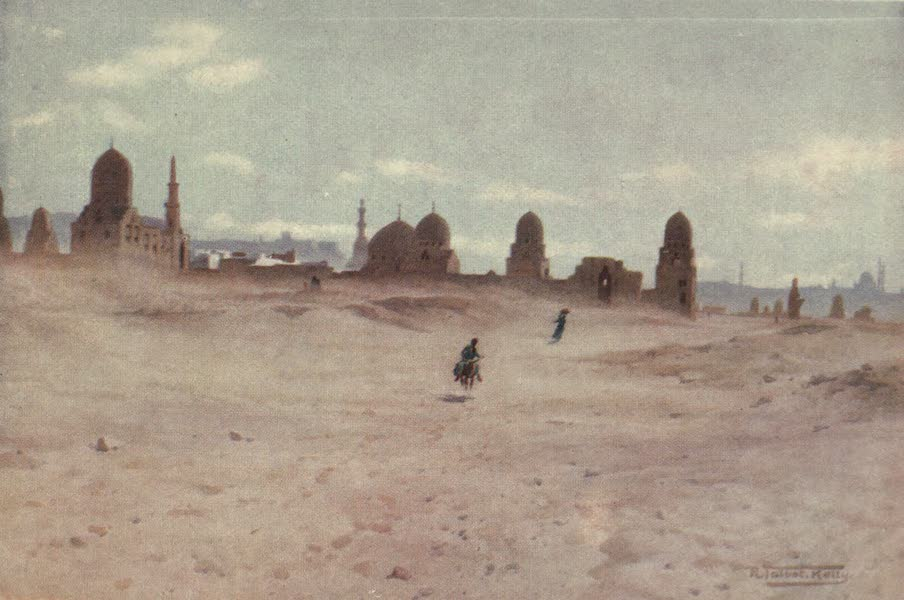Egypt, Painted and Described - A Dusty Day at the Tombs of the Khalifs (1902)