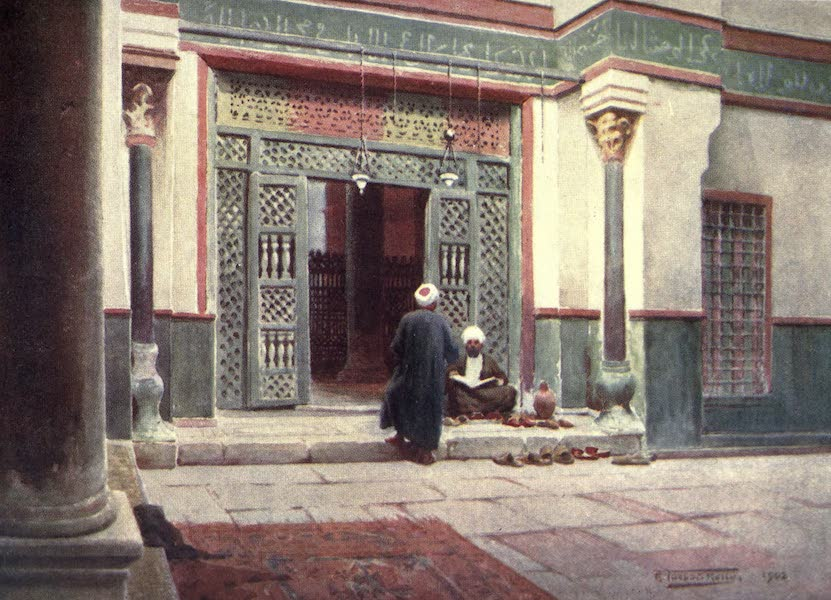 Egypt, Painted and Described - Grill in the Mosque of Sultan Kelaun (1902)