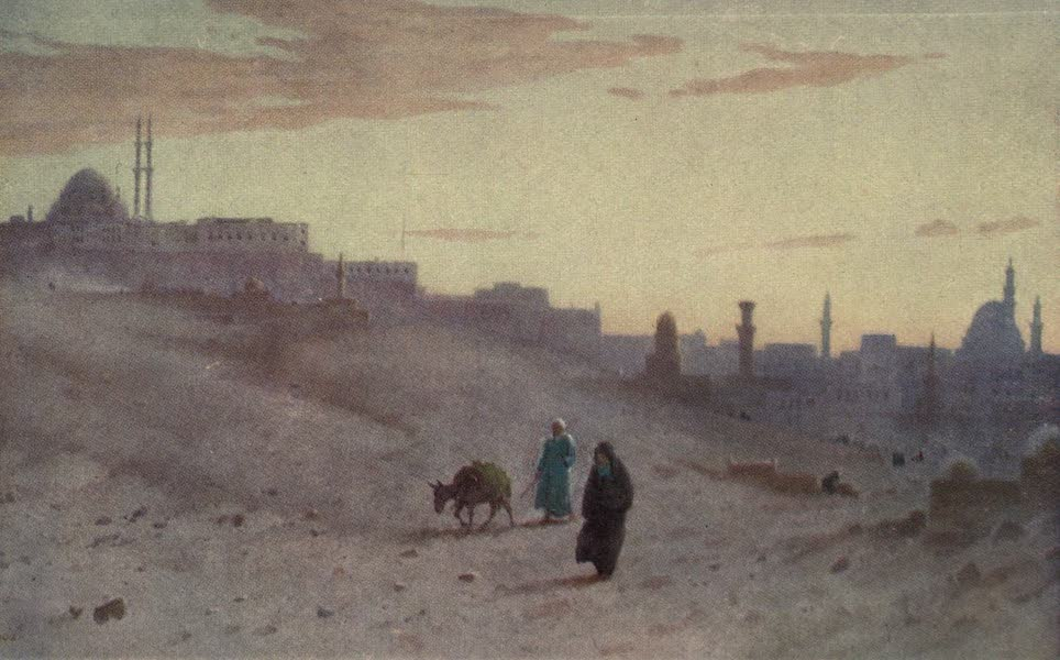 Egypt, Painted and Described - The Citadel and Cairo from the East (1902)