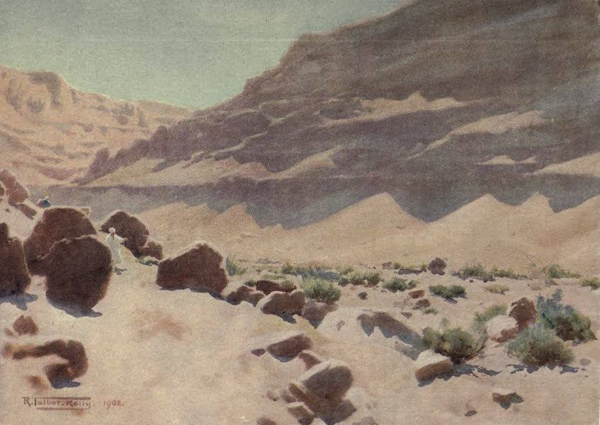 Egypt, Painted and Described - A Wady in the Mokattam Hills (1902)