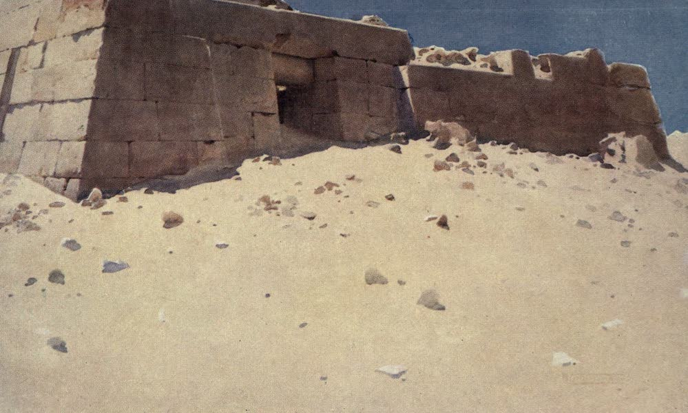 Egypt, Painted and Described - Mastaba below the Second Pyramid (1902)