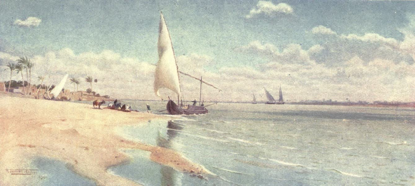 Egypt, Painted and Described - A Breezy Day at Ayat (1902)