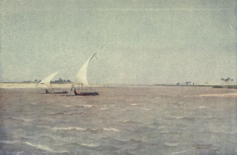 Egypt, Painted and Described - North Wind on the Upper Nile (1902)