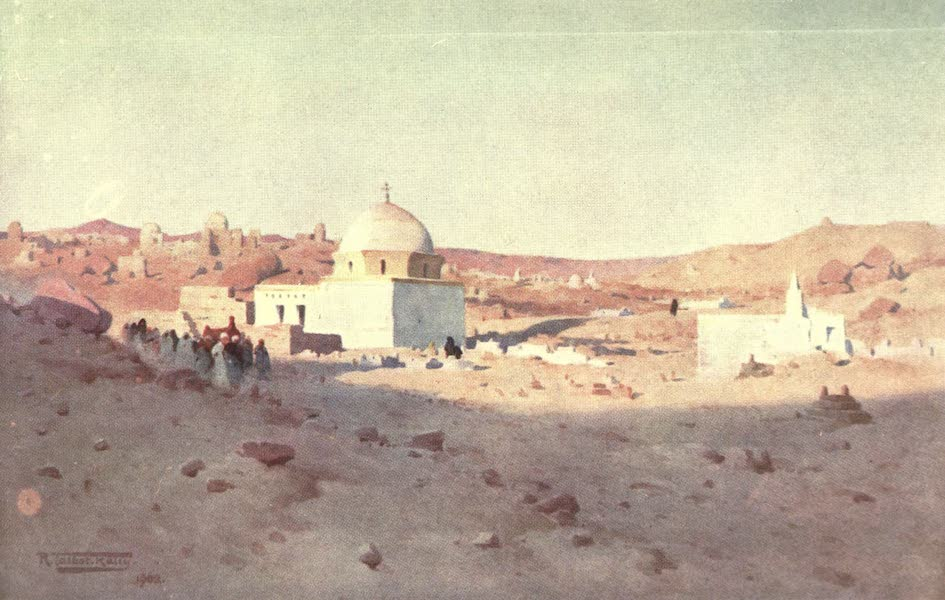 Egypt, Painted and Described - Cufic Cemetery, Assuan (1902)