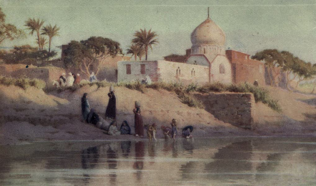 Egypt, Painted and Described - Village of Shinbab on the Lower Nile (1902)