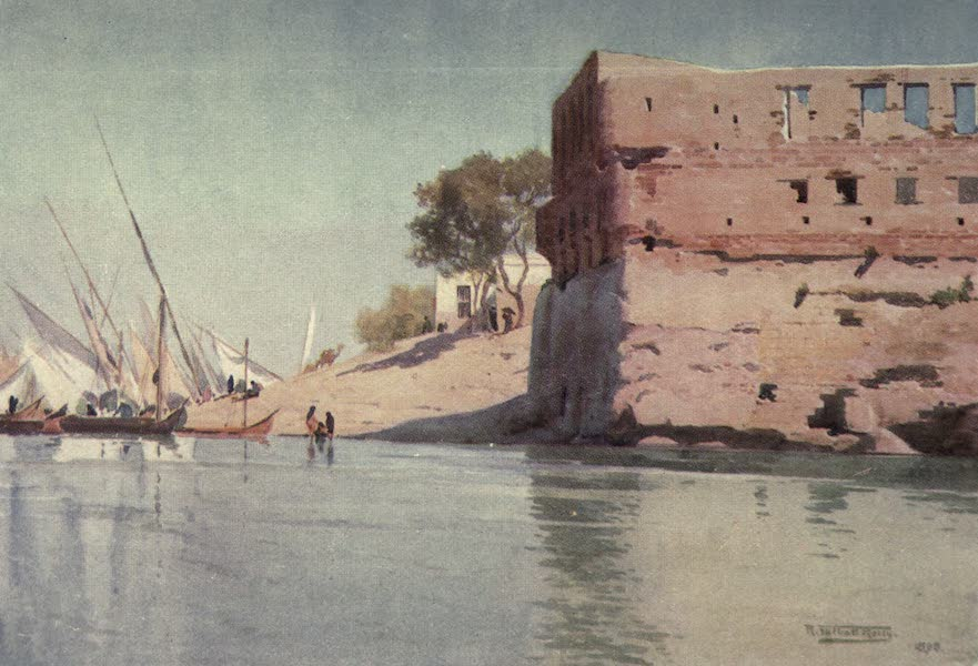Egypt, Painted and Described - A Ruined Palace at Mit Gamr (1902)
