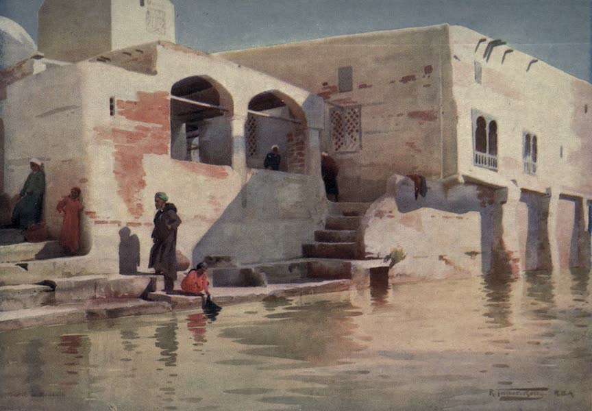 Egypt, Painted and Described - A Water-side Mosque at Menzala (1902)