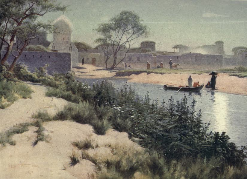 Egypt, Painted and Described - The Village of Mit Hadid (1902)