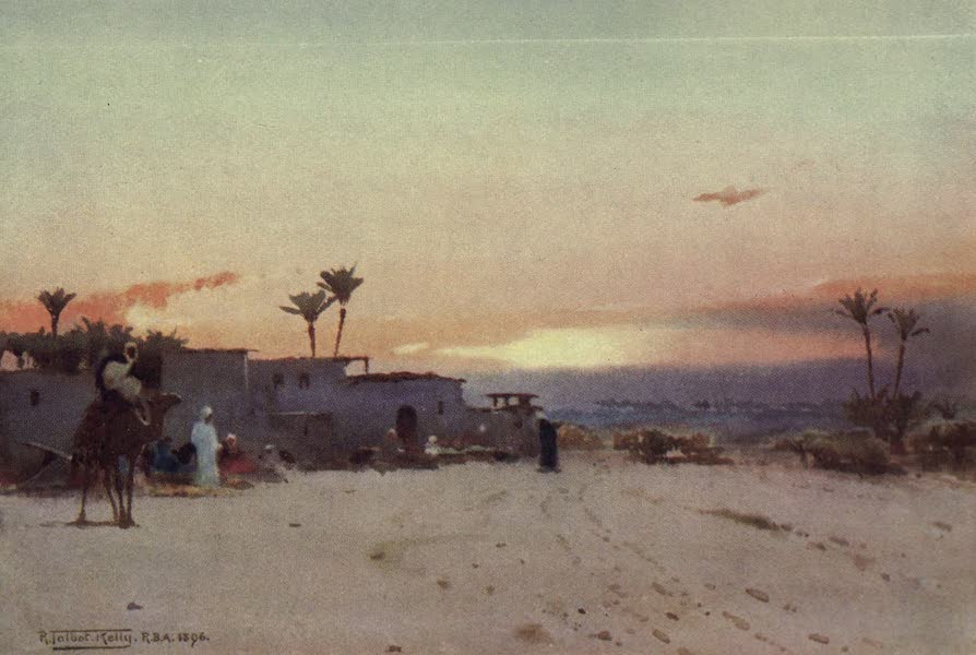 Egypt, Painted and Described - A Fellah Village (1902)
