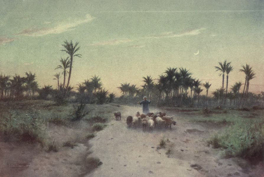 Egypt, Painted and Described - In the Land of Goshen - Evening (1902)