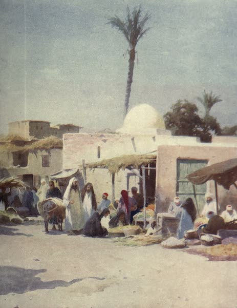 Egypt, Painted and Described - A Corner in the Market-Place (1902)