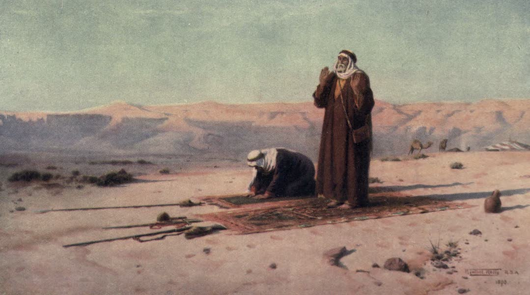 Egypt, Painted and Described - Prayer in the Desert (1902)