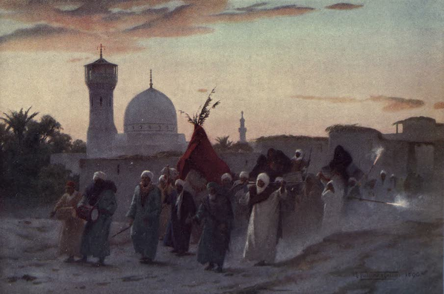 Egypt, Painted and Described - A Wedding Procession at Menzala : the Home-Coming of the Bride (1902)