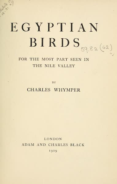 Egyptian Birds - Title Page (1909)
