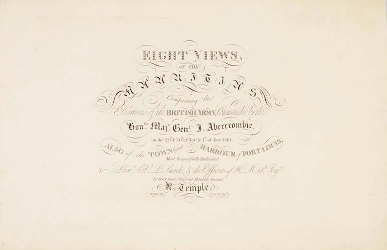 English - Eight Views of the Mauritius