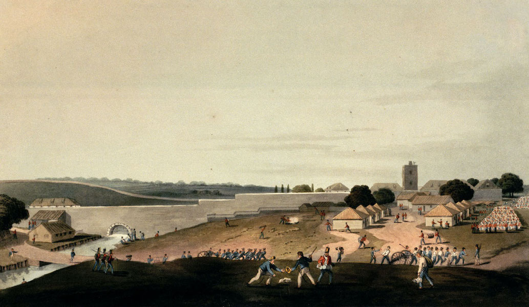 Eight Views of the Mauritius - A West View of the Moulin a Pondre, where the British Army halted, 30th Novr 1810 (1813)